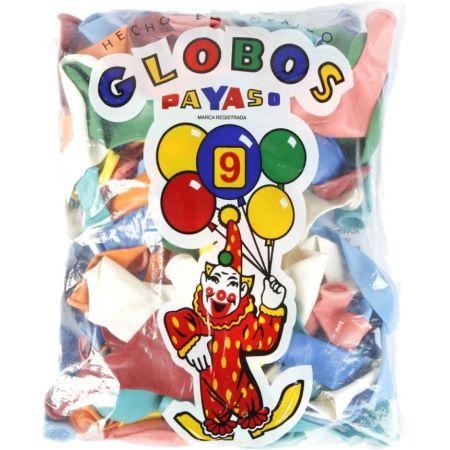Globo N°9 Bolsa x 25 Unidades Colores Surtidos