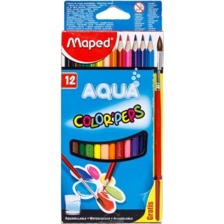 Colores Triangulares Color Peps Aqua Acuarelables Caja x 12 Unidades