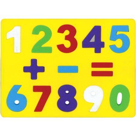 Juego de Encaje de Goma Eva Los Números x 1 Unidad