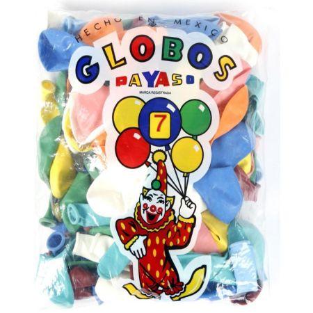 Globo N°7 Bolsa x 25 Unidades Colores Surtidos