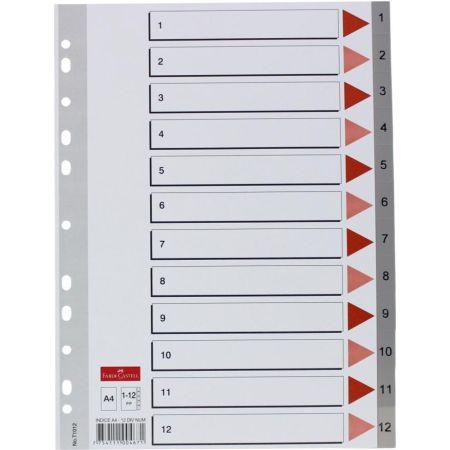 Separador Índice A4 x 12 Divisones Numéricas