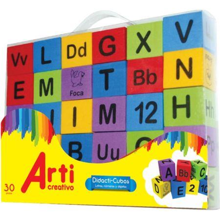 Bloques de Construcción Didacti-Cubos Caja x 30 Unidades