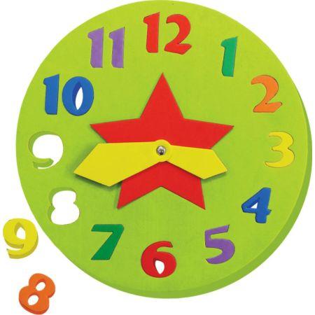 Juego de Encaje de Goma Eva Reloj x 1 Unidad