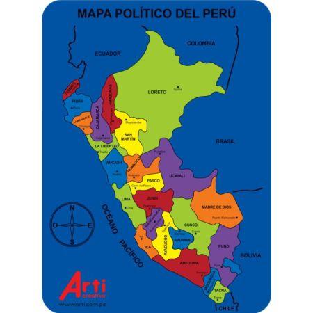 Juego de Encaje de Goma Eva Mapa del Perú x 1 Unidad