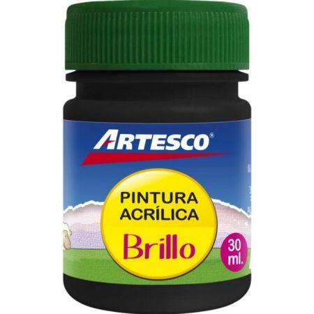 Pintura Acrílica Brillante Negro x 30 ml