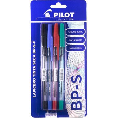 Lapicero BP-S Blister x 4 Unidades Azul / Rojo / Negro / Verde