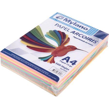 Papel Surtido A4 Paquete x 500 Hojas
