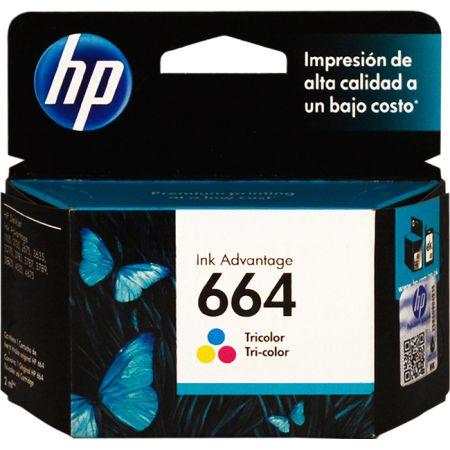 Tinta para Impresora en Cartucho 664 Tricolor