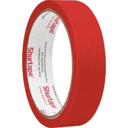 Cinta Masking Tape 1 x 15 yd Rojo