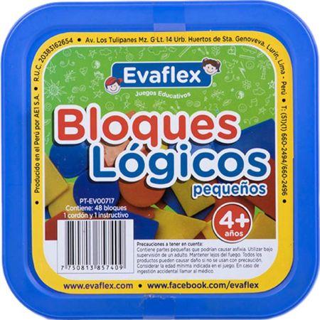 Bloques No Tóxico Lógicos de Plástico Pequeños x 48 piezas Evaflex