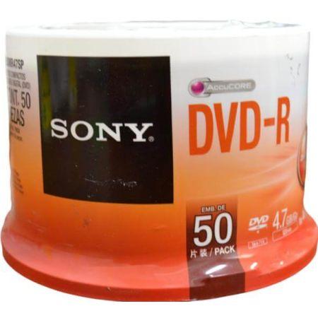 DVD-R Grabable 4.7GB Cono x 50 Unidades