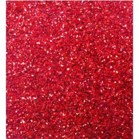 Goma Eva 50 cm x 70 cm Escarchado Rojo x 1 Pliego