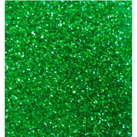 Goma Eva 50 cm x 70 cm Escarchado Verde x 1 Pliego
