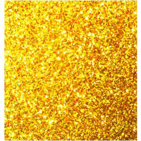 Goma Eva 50 cm x 70 cm Escarchado Dorado x 1 Pliego