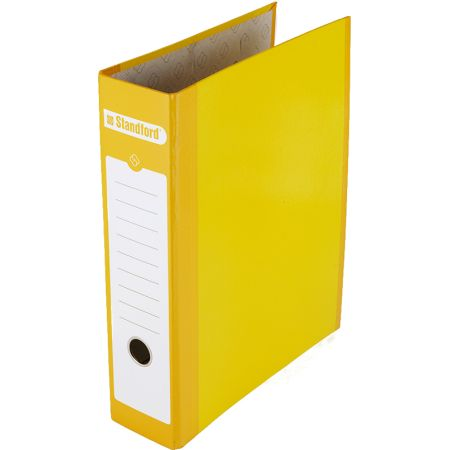 Archivador Lomo Ancho Oficio de Cartón Plastificado Amarillo