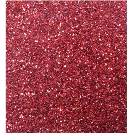 Goma Eva 50 cm x 70 cm Adhesivo Escarchado Rojo x 1 Pliego