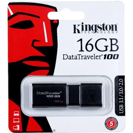 Memoria USB 16GB DataTraveler 100 G3 Negro