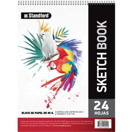 Block de Cartulinas Sketch Book A4 Espiraldo 150 g x 24 Hojas