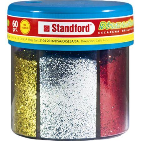 Diamantina Metálica x 6 Colores 60 g