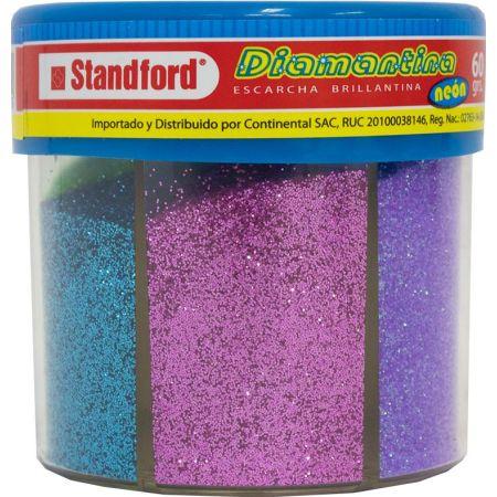Diamantina Surtidos Frasco x 6 Colores x 60g Neón