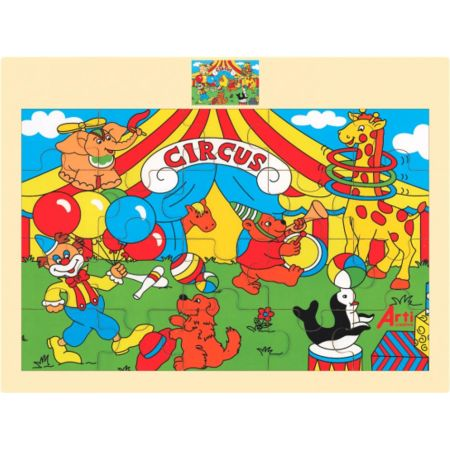 Rompecabezas de Madera El Circo x 20 Piezas