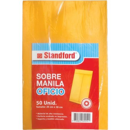 Sobre Manila Oficio Paquete x 50 Unidades 75gm