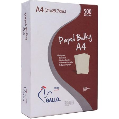 Papel Bulky A4 x 500 Hojas