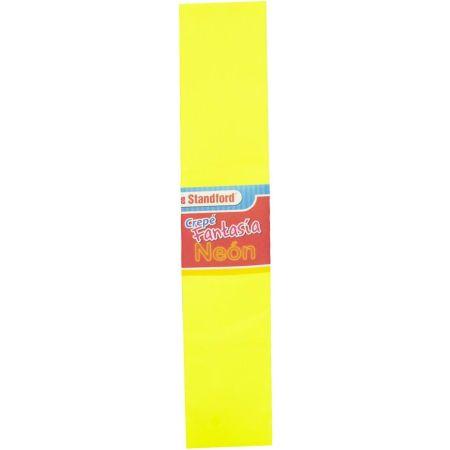 Papel Crepé Fantasía Amarillo x 1 Pliego Neón