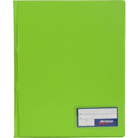 Folder Doble Tapa con Gusanillo A4 Verde Limón