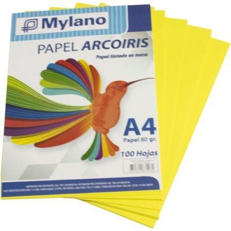 Papel A4 Amarillo Caja x 100 Hojas