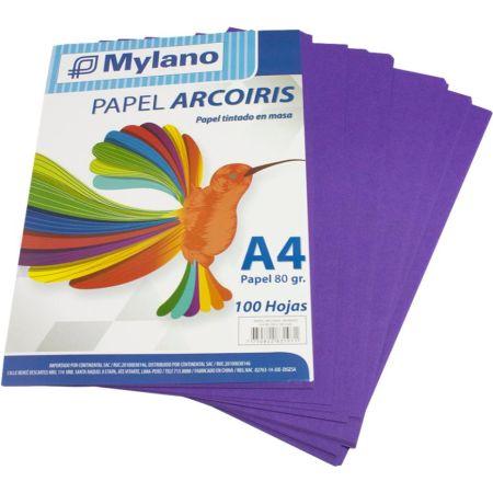 Papel A4 Morado Paquete x 100 Hojas