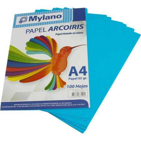 Papel A4 Celeste Paquete x 100 Hojas
