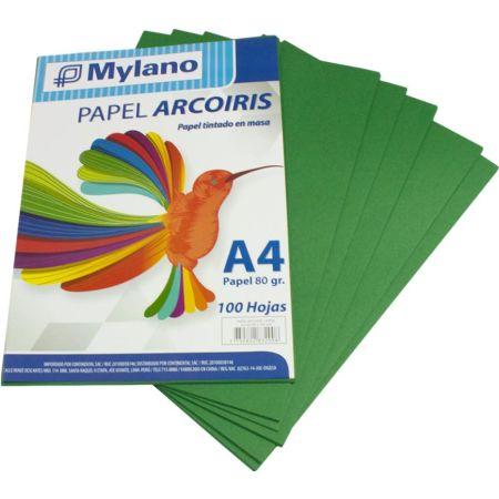 Papel A4 Verde Paquete x 100 Hojas