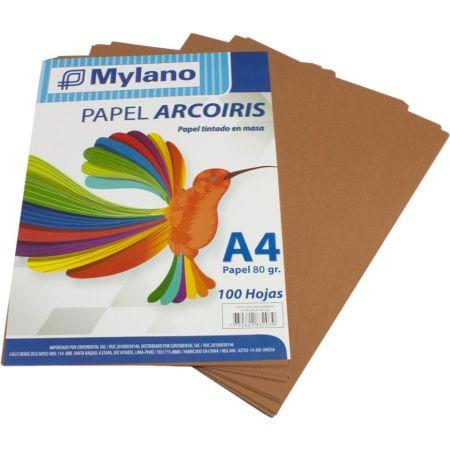 Papel A4 Marrón Paquete x 100 Hojas