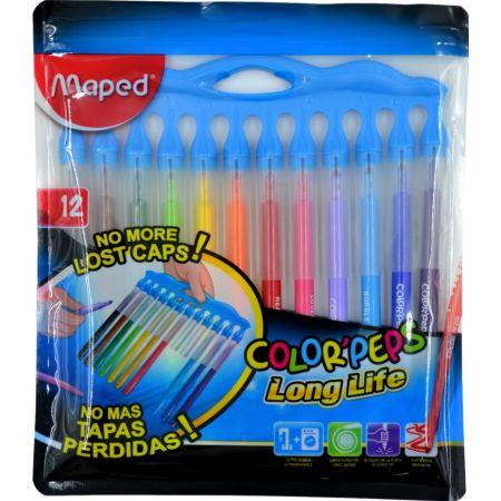 Plumón Color Peps Long Life Estuche x 12 Unidades
