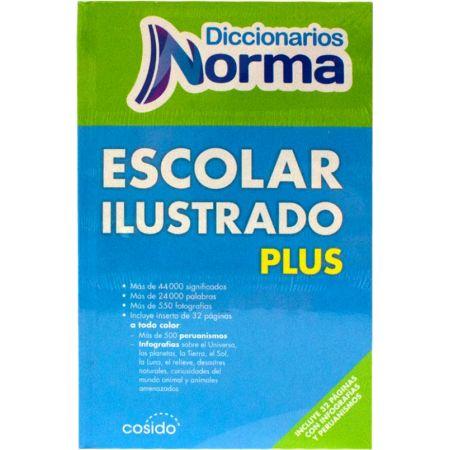 Diccionario Tapa Dura Escolar Ilustrado Plus