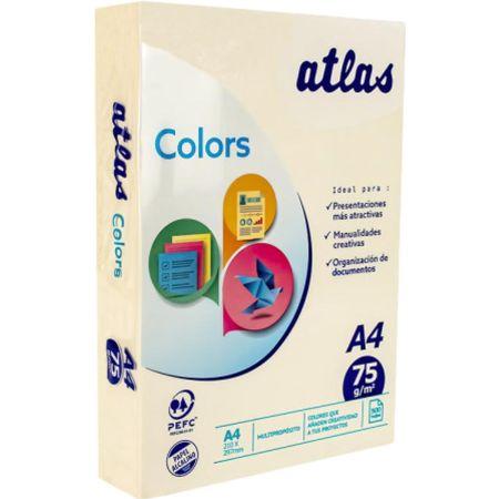Papel Fotocopia A4 Marfil Pastel 75 g Paquete x 500 Hojas