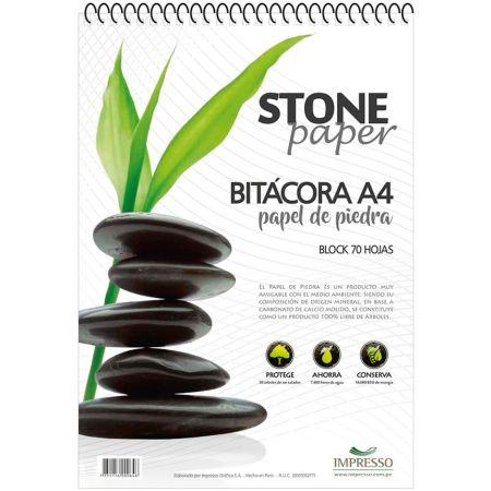 Block Bitácora Stone Paper Fine A4 x70 Hojas
