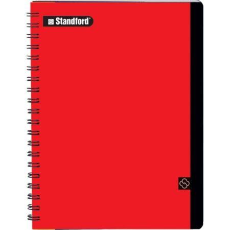Cuaderno Premium Cuadriculado A5 Anillado Rojo x 200 Hojas