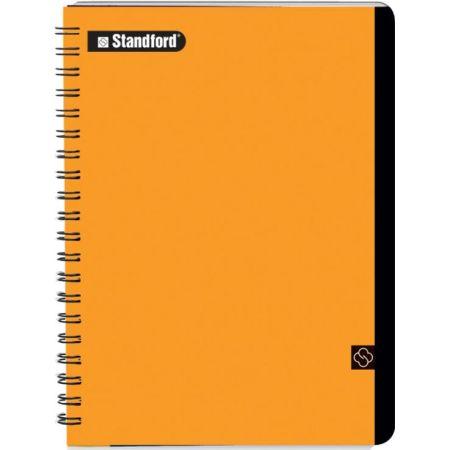 Cuaderno Premium Cuadriculado A5 Anillado Naranja x 200 Hojas
