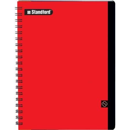 Cuaderno Premium Cuadriculado A4 Anillado Rojo x 100 Hojas