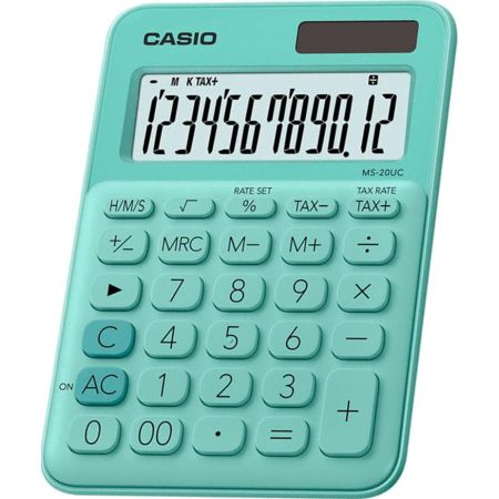 Calculadora Escolar Ms-20UC 12 Dígitos Verde