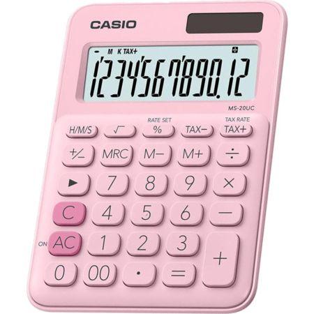 Calculadora Escolar Ms-20UC 12 Dígitos Rosado