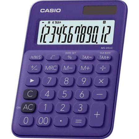 Calculadora Escolar Ms-20UC 12 Dígitos Morado