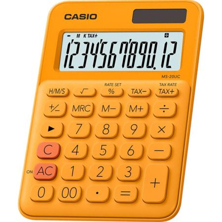 Calculadora Escolar Ms-20UC 12 Dígitos Naranja