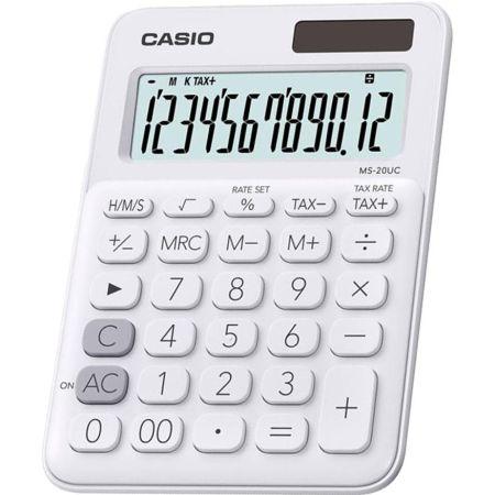 Calculadora Escolar Ms-20UC 12 Dígitos Blanco