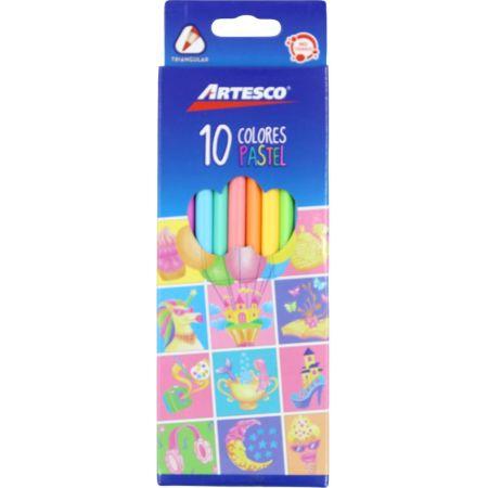 Colores Triangulares Pastel Caja x 10 Unidades