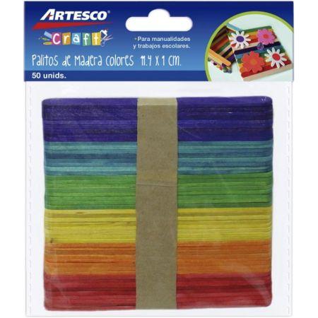 Palitos de Chupete Colores Surtidos Bolsa x 50 Unidades