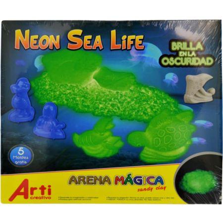 Arena Mágica Neon Sea Life Caja x 250 g