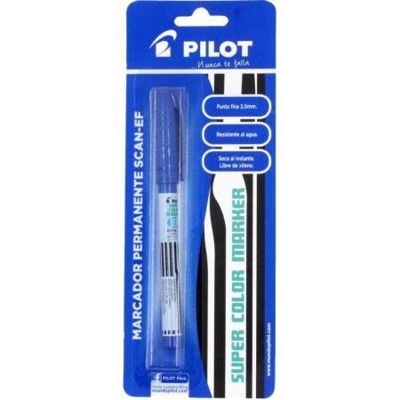Plumón Indeleble SCAN-EF Azul Blister x 1 Unidad
